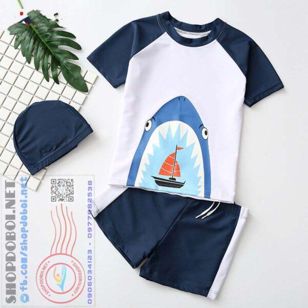 Bộ đồ bơi bé trai (Áo + Quần + Mũ) BBT7108 (3)