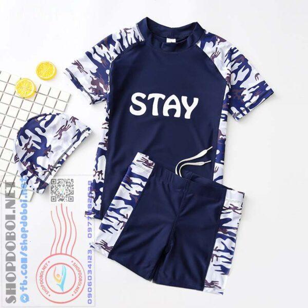 Bộ quần áo bơi nam thời trang BBM1337 (có mũ) (1)