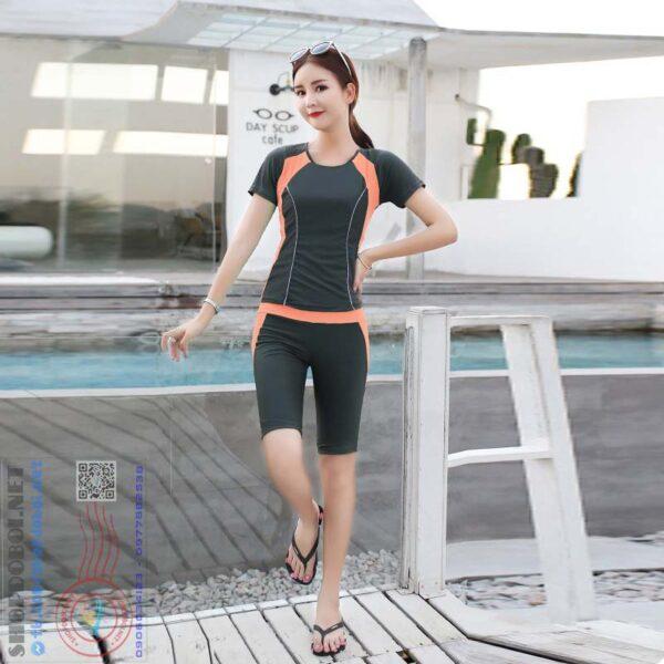 Mã BBN8809G-Bộ đồ bơi nữ ngắn tay BBN8809C (2)