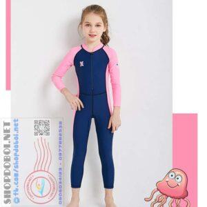 Bộ bơi bé gái liền thân BBG8821 (7)