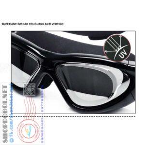 Kính bơi tráng gương mắt lớn siêu chống nước, chống UV, chống sương mờ KB910D